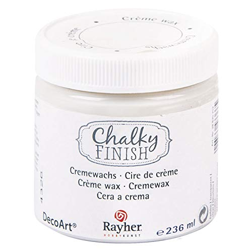 CREATIV DISCOUNT® NEU Chalky Finish Cremewachs, farblos, Dose 236ml