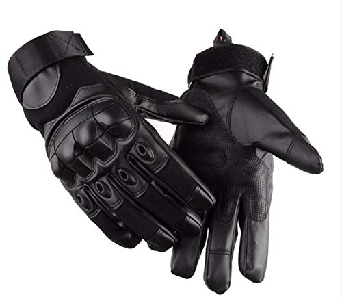 YANODA Army Combat Tactical Gloves Männer SWAT Special Forces Shoot Militärhandschuhe Knuckle Vollfinger Fight Paintball Handschuhe (Color : Full Black, Gloves Size : XL)