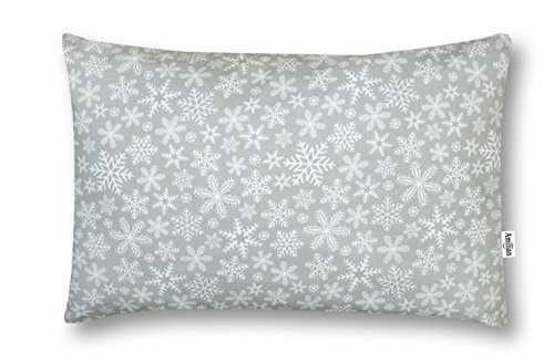 Amilian® Dekokissen Kissenbezug Kissen 40cm x 60cm Schneeflocke Grau