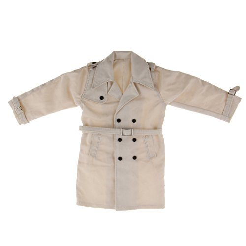 sharprepublic 1/6 Trenchcoat Windcoat Outerwear Long Jacket Für 12 '' Männliche Figur - Weiß