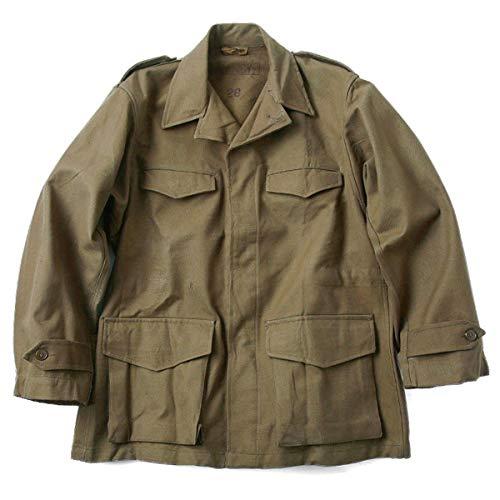 実物 新品 フランス軍 M-47 フィールドジャケット 前期型 コットン製 #1(表記46 オリーブ) 実物 ミリタリー 軍放出品 ジャケット メンズ