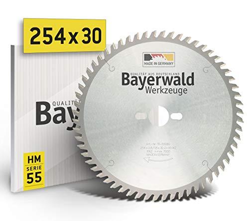 Bayerwald - HM Tischkreissägeblatt - Ø 254 mm x 2,8 mm x 30 mm   Wechselzahn (60 Zähne)   Kombinebenlöcher für Bosch GTS 10 & PTS 10