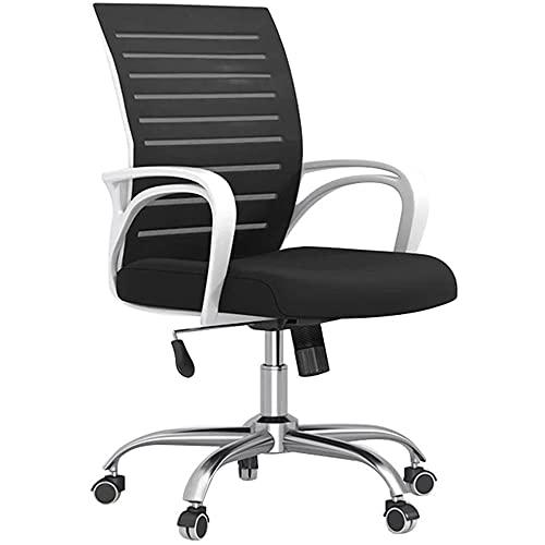 Silla de oficina de malla ergonómica ajustable, cómoda silla de tarea ergonómica con función de inclinación, silla de apoyo lumbar para conferencias de oficina