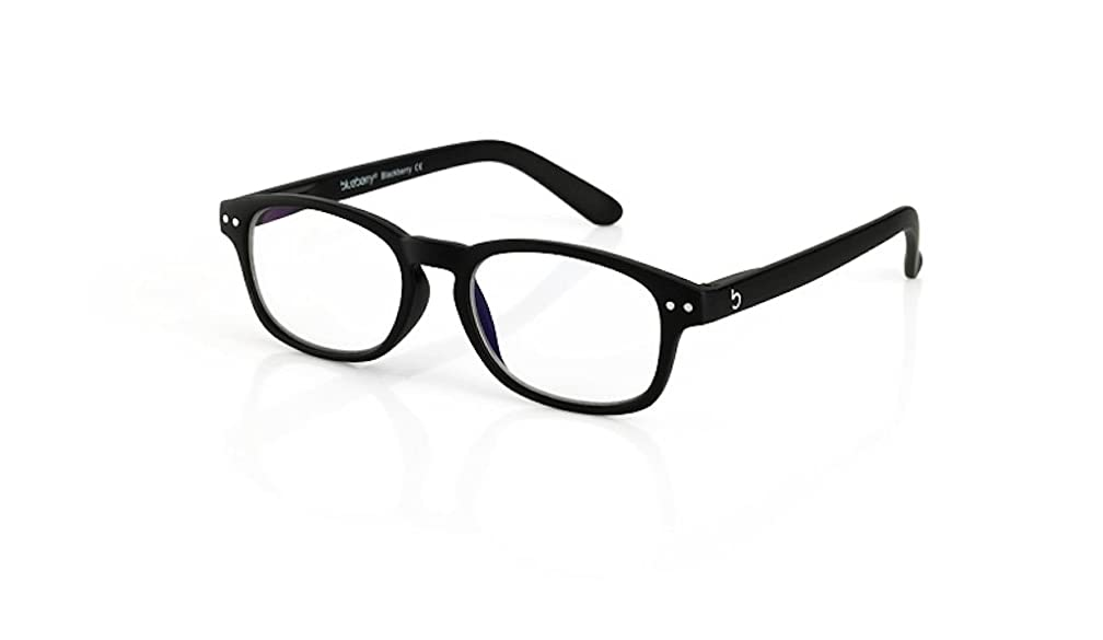 Blueberry Computer Glasses -S-Black - Clear Lenses- (Blackberry,Clear)