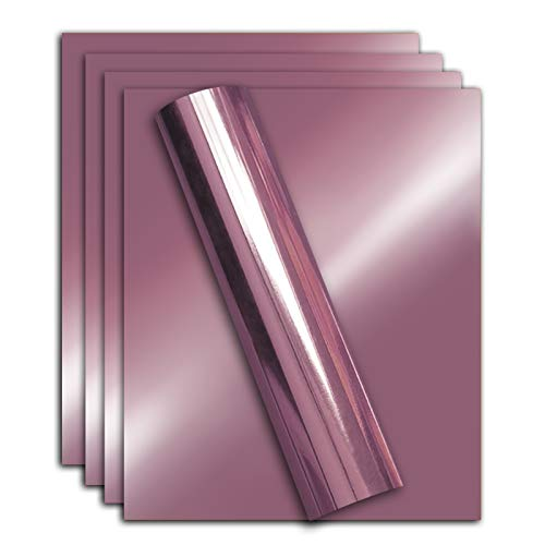 Stretchable Metallic Heat Transfer Vinyl LT Pink Folie, Eisen auf HTV B&le für DIY Ihre eigene Kleidung, 30,5 x 25,4 cm, Packung mit 5 Blatt, umweltfre&lich