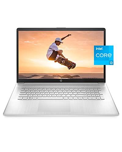 HP 17 Laptop PC, 11th Gen Intel Core i3-1125G4, 8 GB RAM, 256 GB SSD Storage, 17.3-inch HD+ Touchscreen, Windows 10 Home, Long Battery Life, HD Web-cam & Dual Microphones (17-cn0010nr, 2021)