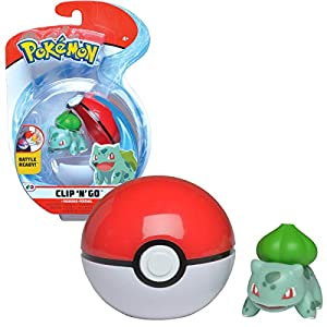 Bandai – Pokémon – Poké Ball & su Figura 5 cm Bulbizarre – WT97643