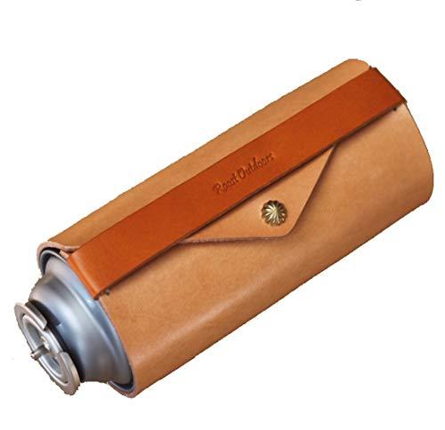 Roost Outdoors CB缶 250g 120g ガス缶カバー ガス缶 カセットボンベ カセット ガス カバー 本革 レザー ケース (250g)