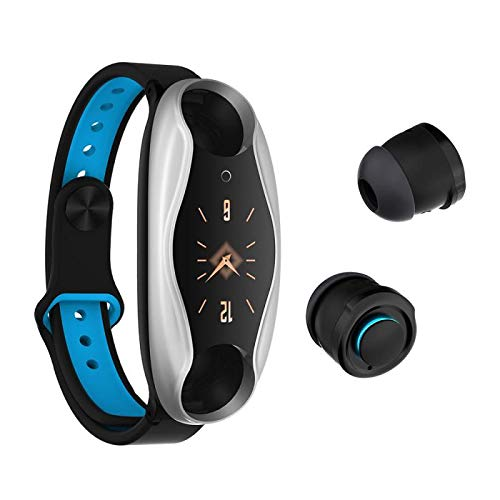 with Bluetooth Headset Smart Watch,GPS Waterproof Screen Fitness Watch,with Heart Rate Monitor,Pedometer,Sleep Monitor,Silent Alarm Clock,Super Battery Life,Slim Smart Bracelet