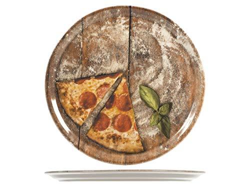SATURNIA Slice Confezione 6 Piatti Pizza, Porcellana, Assortito, 33 Cm