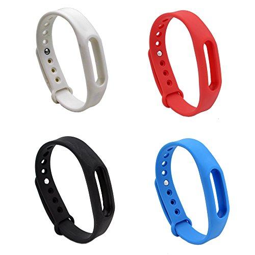 PINHEN Ersatz-Armband für Xiaomi Mi Band 1/1S - Armband Ersatz Armband Smart Band Zubehör für Mi Band 1/1S, Pokemon Go Go-Tcha (4pcs Set)