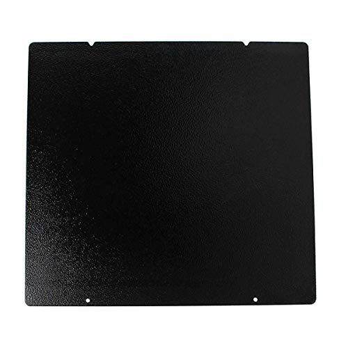 Toaiot 3D Printer Hot Bed Platform Black Double Sided Textured PEI Spring Steel Sheet Powder Coated PEI Build Sheet 254x241mm / 10x9.4 inch for Prusa i3 MK3 MK2.5