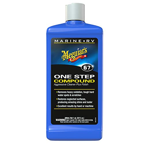Meguiar's M6732 Marine/RV One Step Compound, 32 oz