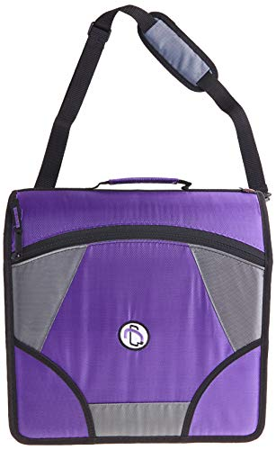 Case-it King Sized Zip Tab 4-Inch D-Ring Zipper Binder with 5-Tab File...