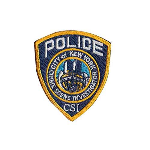 Patch Bordado Distintivo Detetive CSI Nypd Nova York PL60350-396 Termocolante Para Aplicar