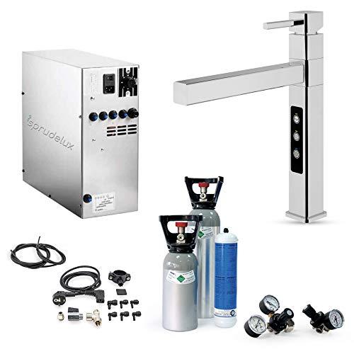 Système d'eau potable SPRUDELUX INOX sans unité filtrante avec robinet 5 voies Stratos