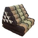 livasia | Cuscino Triangolare con Materasso ripiegato | Materasso thailandese con Cuscino di Sostegno | Cuscino in kapok