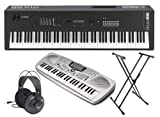 Yamaha MX88 Synthesizer with Stand, Headphones, and Portable Keyboard