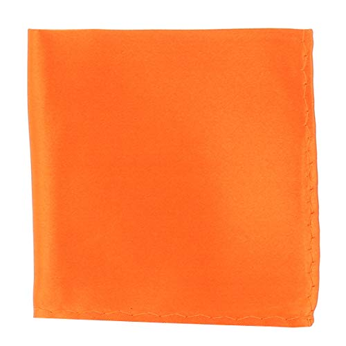 Pochette Costume Orange - Mouchoir de Poche Homme Orange - Accessoire Carré Poche de Veste - Mariage, Cérémonie
