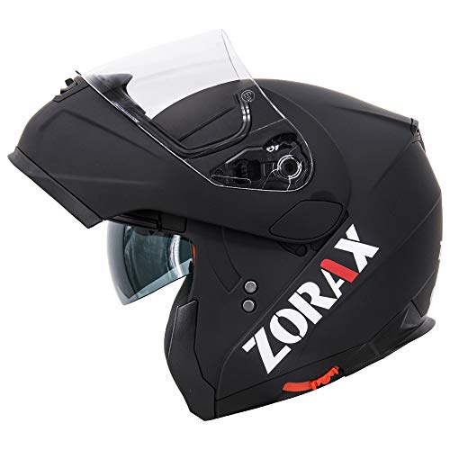 Zorax Matt Black L (59-60cm) ZOR-838 Double Visor Modular Flip up front...