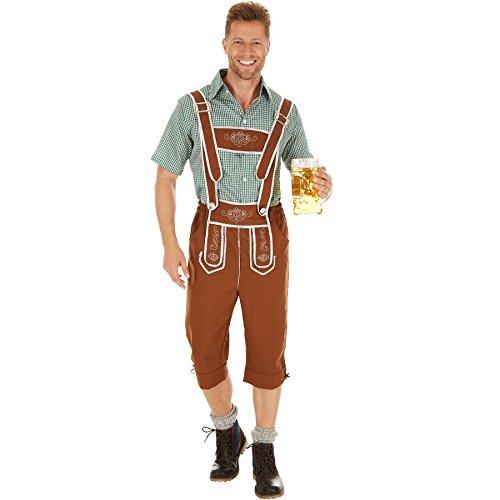 TecTake Disfraz de Tradicional Austria para Hombre | Camisa Elegante y Pantalones con Bordados Tradicionales (XXL | No. 301094)