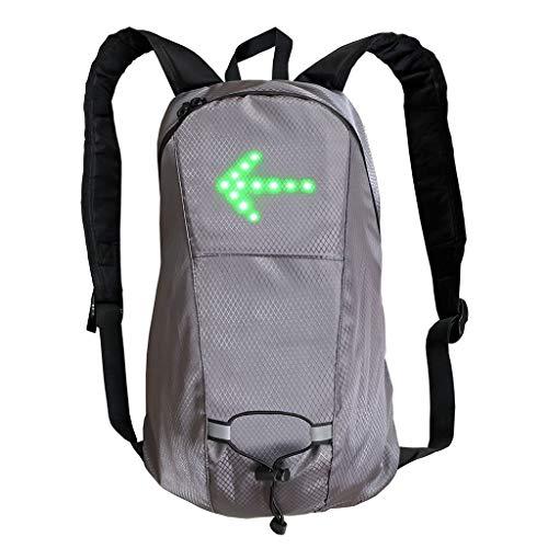 QuQiaoUK - Mochila de luz LED con control remoto y luz de señal de giro reflectante para deportes al aire libre, bolsa de seguridad para ciclismo, correr, caminar, trotar, cuidar accesorios