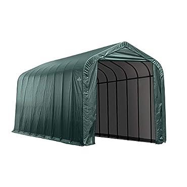ShelterLogic 95371 Garage 15 x 24 x 12  Peak Standard Green