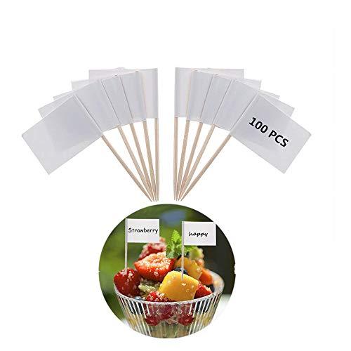 Yongbest Flaggenpicker,100 Stück Kleine Zahnstocher Käse Marker für Kuchen,Cocktail,Party Kuchen Lebensmittel Käseplatte Dekoration