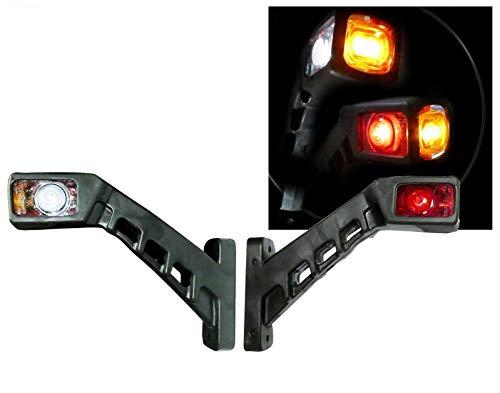 A1 2X LED Umrissleuchte Positionsleuchte Begrenzungsleuchten Markierungsleuchte für LKW und Anhänger Leuchten SCHRÄG Seitenmarkierungsleuchten 12V 24V