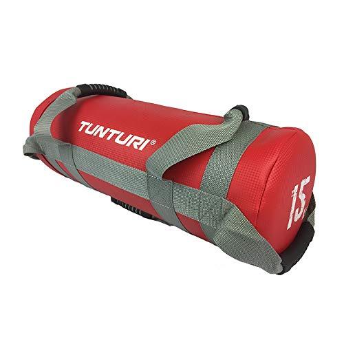 Tunturi-Fitness Functional Saco para Deportes, Unisex Adulto, Rojo, 15 kg