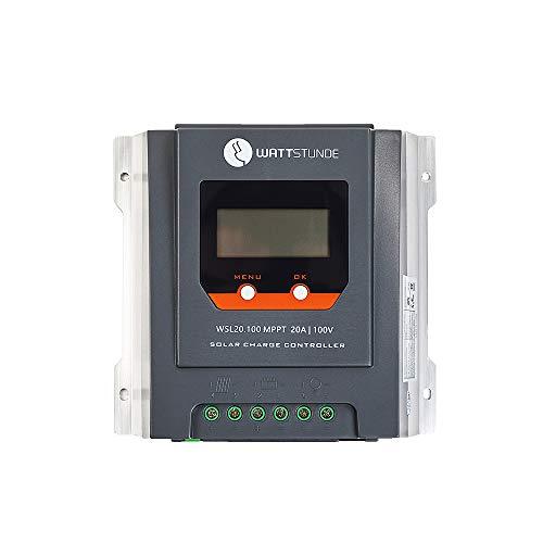 WATTSTUNDE 20A 90V LCD MPPT Solar Laderegler für 12V Systeme bis 260W (WSL20.100)
