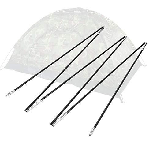 Poste de la tienda de campaña, barras de poste de la tienda de campaña de fibra de vidrio Barras de soporte de protección solar al aire libre Kit de marcos de toldo para 1-2 personas Tienda de campaña