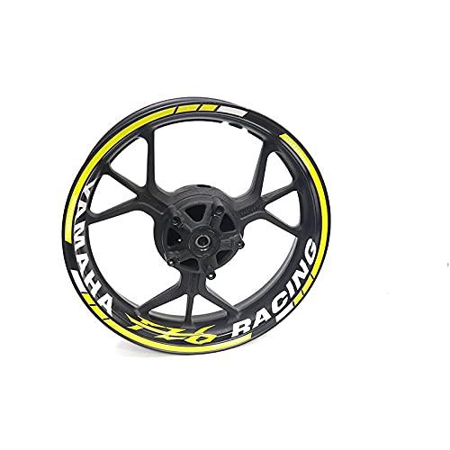 para Y-amaha FZ6, Pegatinas De Rueda De Motocicleta Borde Reflectante Cinta Adhesiva De Rayas para Motocicleta (Color : 5)