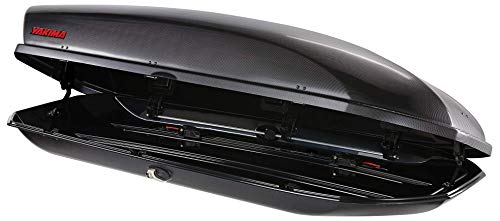 YAKIMA - SkyBox Aerodynamic Rooftop Cargo Box for Cars, Wagons and SUVs, 21 (adds 21 cubic ft. of storage), Carbonite