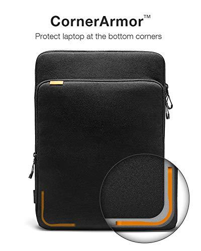 tomtoc Laptop-Hülle aus Cordura-Stoff, entworfen für 16 Zoll MacBook Pro mit USB-C A2141, 15 Zoll MacBook Pro Retina A1398, wasserdichte Laptop-Zubehör-Schutzhülle mit Griff