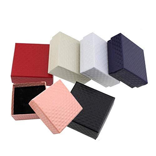 LYsng Cajas para Joyas Cuadrado Organizador Joyas Caja De Almacenamiento Creativa para Anillos Aretes Pendientes Pulseras Collares NiñA Mujer Expositor Viaje 24pcs