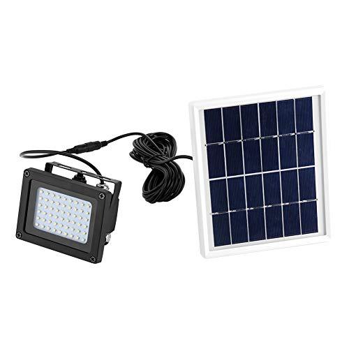 GOTOTOP LED Luz con Panel de energía Solar 54 LED para Exteriores Impermeable IP65 Lámpara Foco de...