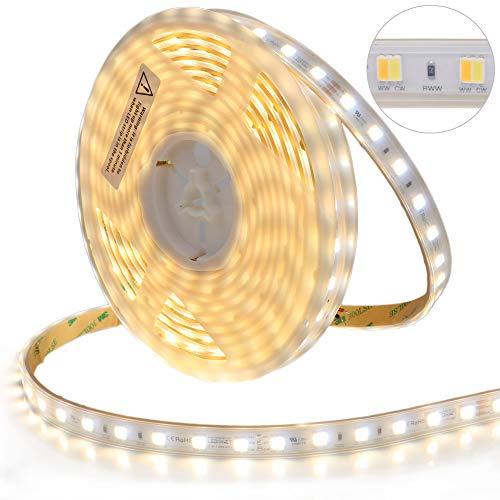 LEDENET 5M SMD5050 LED CCT 2-in-1 24V 60W 300LEDs Kaltweiß + Warmweiß Dual White LED Stripe(Wasserdicht IP67)