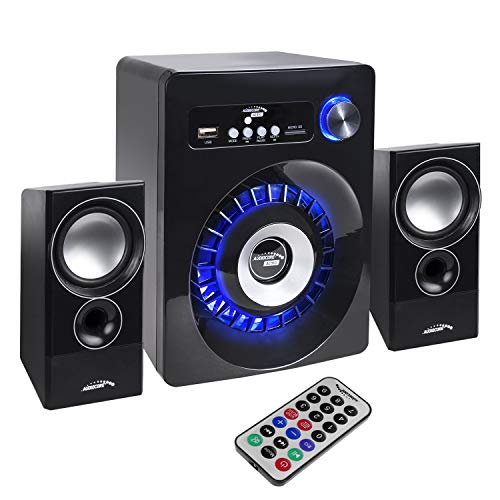 Audiocore AC910 2.1 Bluetooth Multimedia Lautsprechersystem Lautsprecher Subwoofer 280W P.M.P.O. Radio SD-Kartenslot AUX