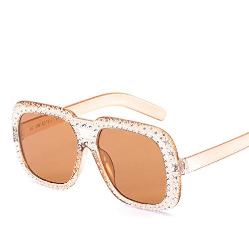 Gafas De Sol Hombre Mujeres Ciclismo Gafas De Sol Cuadradas De Moda para Mujer, Montura Blanca, Gafas De Sol Coloridas Vintage para Mujer-1-Jh18005-C4