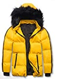 SNOW DREAMS Boys Winter Coat Windproof Puffer Fall Jacket Hooded Warm for Kids Outerwear Parka Yellow Size 7