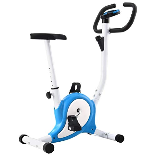 vidaXL Cyclette Ellittica con Cinghia di Resistenza Blu
