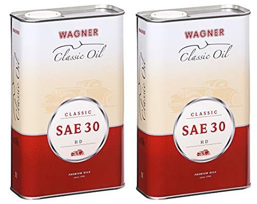 2X Wagner SPEZIALSCHMIERSTOFFE Motorenöl Motoröl Classic HD SAE 30 5 L Liter