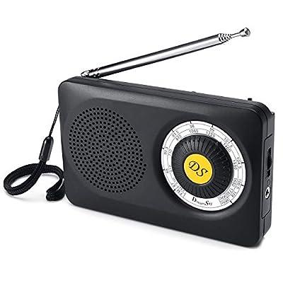 DreamSky AM FM Portable Radio with Loudspeaker ...