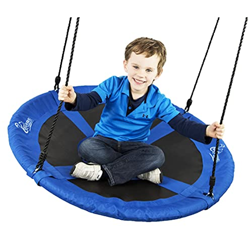 Flying Squirrel Giant Rope Swing - 40' Saucer Tree Swing- Additions & Replacements for Active Outdoor Play Equipment - Blue