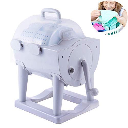 JFFFFWI Tragbare Waschmaschine, Nicht elektrische manuelle Waschmaschine mit Trockner, handgekurbelte ökologische Mini-Waschmaschine, Kompaktwasch- und Entwässerungswaschmaschine, Campingwaschmaschi