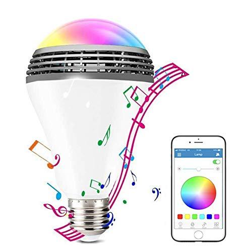 Bombilla De Luz Smart WiFi De 7W LED Bombilla De Música, Luz Cálida E27 - Luz Blanca + RGB + Bombilla De Control De Aplicación, iPhone iOS Gratis, Teléfono Inteligente Android Y iPad