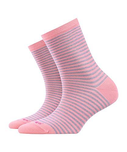 BURLINGTON Damen Socken Ladywell Ringlet - Baumwollmischung, 1 Paar, Rot (Gladiola 8906), Größe: 36-41