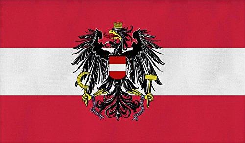 normani Flagge Großformat 250 x 150 cm wetterfest Fahne in 16 verschiedenen Ausführungen mit Ösen Farbe Österreich