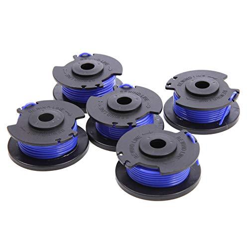 SurePromise Ersatzspule für Rasentrimmer, 0,065 cm Durchmesser, Blau, 5 Stück